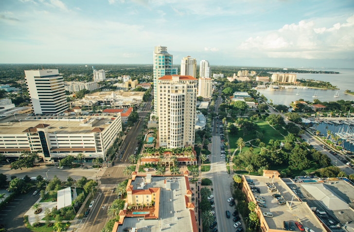 Water Street Tampa, More Than Two Years and 5 Million Square Feet into Vertical Construction, Takes Shape as a Mini City