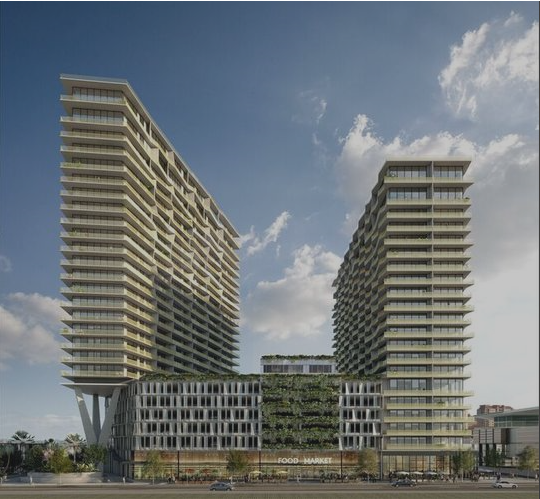 Water Street Tampa to include residential building with grocery store, apartments and condos